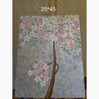 Продам картину маслом Древо. Японская живопись