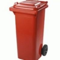 Бак для мусора пластиковый 240л., красный. 240H2-19R