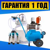 Масляный доильный аппарат Буренка-1 Нержавейка. Апарат доїльний + бідон