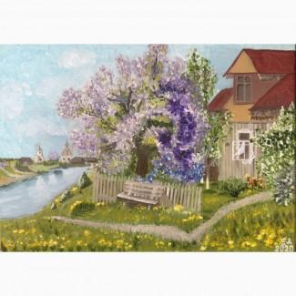 Картина Копия Жданов В.Ю. Сирень у дома