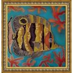 Батик роспись по шелку картина в подарок