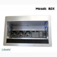 Блок розеток Mosaic Box 3x220+2xRJ45+VGA+HDMI