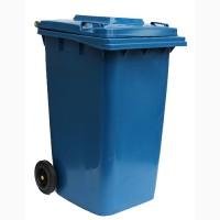Бак для мусора пластиковый 240л. синий. 240H2-19BL