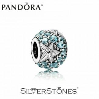 Скидки! Pandora Пандора шарм бусина Океаническая морская звезда арт. 791905CZF Оригинал