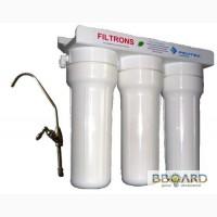 Проточный фильтр для воды тройной с картриджами FILTRONS (Украина)