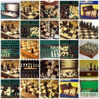 Деревянные шахматы, нарды, домино, лото