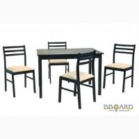 Стол обеденный и 4 стула, цвет венге