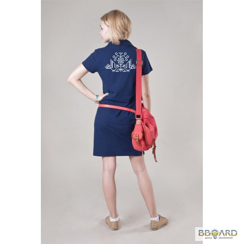 cd5f196ad53 Продам ТРИКОТАЖНОЕ летнее платье Поло с украинской символикой ...