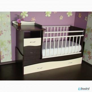 Детская кроватка с пеленатором