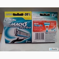 Gillette Лезвия Gillette Mach 3 Turbo (картридж)8шт