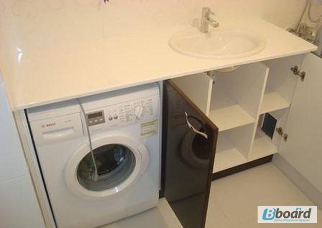 Столешница под стиральную машину для ванной своими