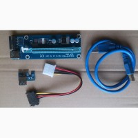 Райзер v006 6 pin 60 cm USB3 PCI-E x1 to 16x Riser