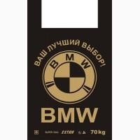 Пакет майка ВМW 38х60, 50 шт, 30 кг серый