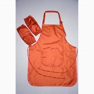 Фартук для труда, рисования, и др. взрослый оранжевый