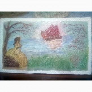 Продажа рельефной картины, барельеф
