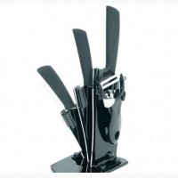 Набор керамических ножей, подставка и овощечистка