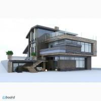 Индивидуальное проектирование загородных домов, коттеджей, вилл, особняков