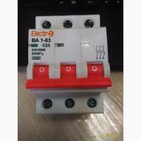 Автоматический выключатель ВА 1-63 С25 А 3-х пол