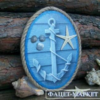 Панно Морской якорь для декора ручной работы