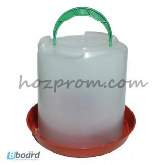 Вакуумная пластиковая поилка 8 л. для птицы оптом