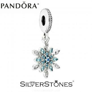 Скидки! Pandora Пандора шарм подвеска Блестящая снежинка арт. 791761NBLMX Оригинал