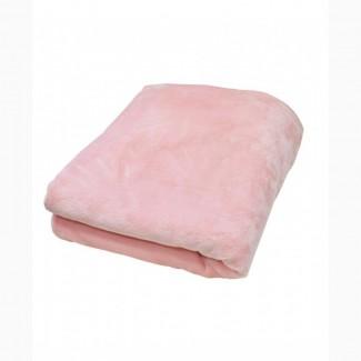 Плед флисовый розовый