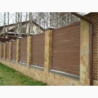 Забори з профнастилу дешево, найдешевший паркан для дачі