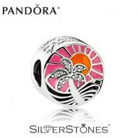 Скидки! Оригинал Pandora Пандора шарм бусина Закат в раю 792116ENMX