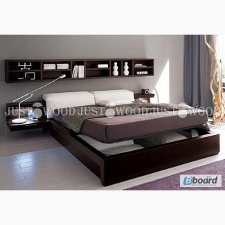 Двуспальная кровать Дилайт из натурального дерева