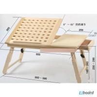 Подставка для ноутбука деревянная столик для ноутбука