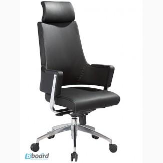 Кресло офисное Аризона, мультиблок, хромированное, кожзам черного цвета