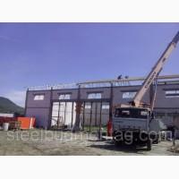 Строительство складского помещения. Монтаж металлоконструкций Львов