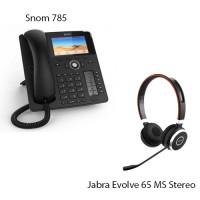 Snom D785 + Jabra Evolve 65 MS Stereo, комплект: sip телефон + гарнитура