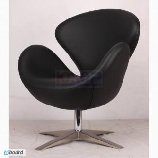 Кресло Swan (Св) кожзам, дизайнерское кресло ЛЕБЕДЬ для дома, кафе, бара, офиса Украина