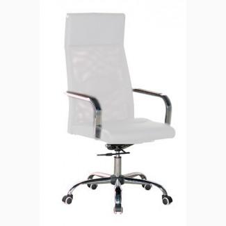 Кресло офисное, белое, натуральная дышащая сетка, белое Небраска