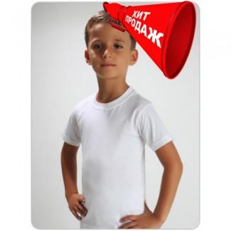 Детская белая футболка из хлопка, гипоаллерген