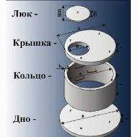 Бетонные кольца, септик, сливная яма, выгребная яма