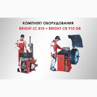 Комплект шиномонтажного оборудования до 21 BRIGHT LC810 и BRIGHT CB910 GBS ПедальюТормоза