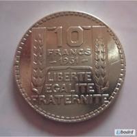 10 франков 1931 серебро Франция