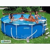 Каркасный бассейн Intex Metal Frame 28218 (круглый)