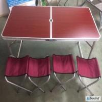 Туристический набор для пикника WELFULL-FTS1-4, раскладной стол +4 стульчика