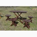 Раскладной стол 1шт и стулья 4шт для пикника + Мангал в подарок