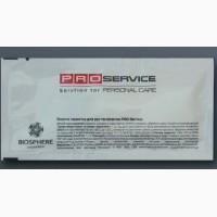 Салфетка влажная для рук и лица в индивидуальной упаковке PROservice 60х120 мм