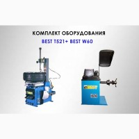 Комплект шиномонтажного оборудования до 21 ShiningBerg (BEST) T521 и W60