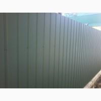 Тимчасовий паркан з профнастилу, профільній лист недорого, виробляємо профнастил