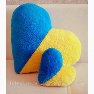 Подушка флаг Украины в форме сердца 39 см