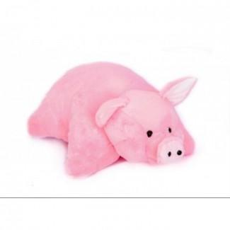 Купить мягкую игрушку подушка свинка
