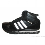 Кроссовки Adidas с натуральным мехом (Black)