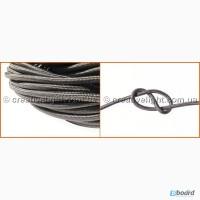Провод в текстильной оплетке серый