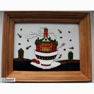 Продажа товаров ручной работы для интерьера: картины, панно, предметы интерьера для кафе..